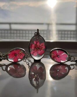 Komplet z różowymi Werbenami