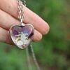 Serce z fioletowym Chabrem