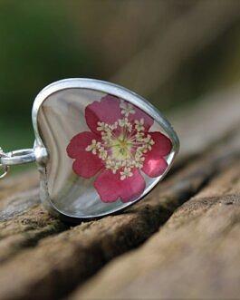 Serce z Kwiatem Werbeny
