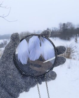 Dekor Białe Piórka
